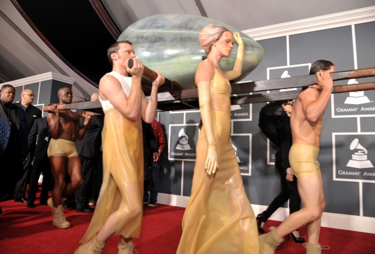 The egg Lady Gaga was encased